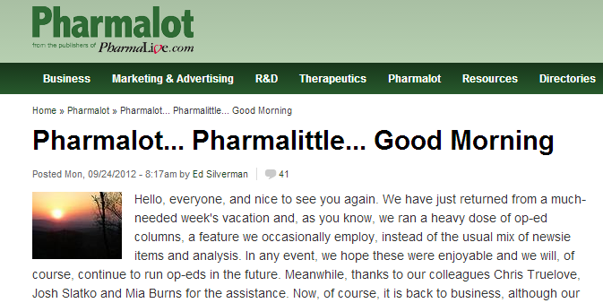 Best Pharma Blogs of 2013
