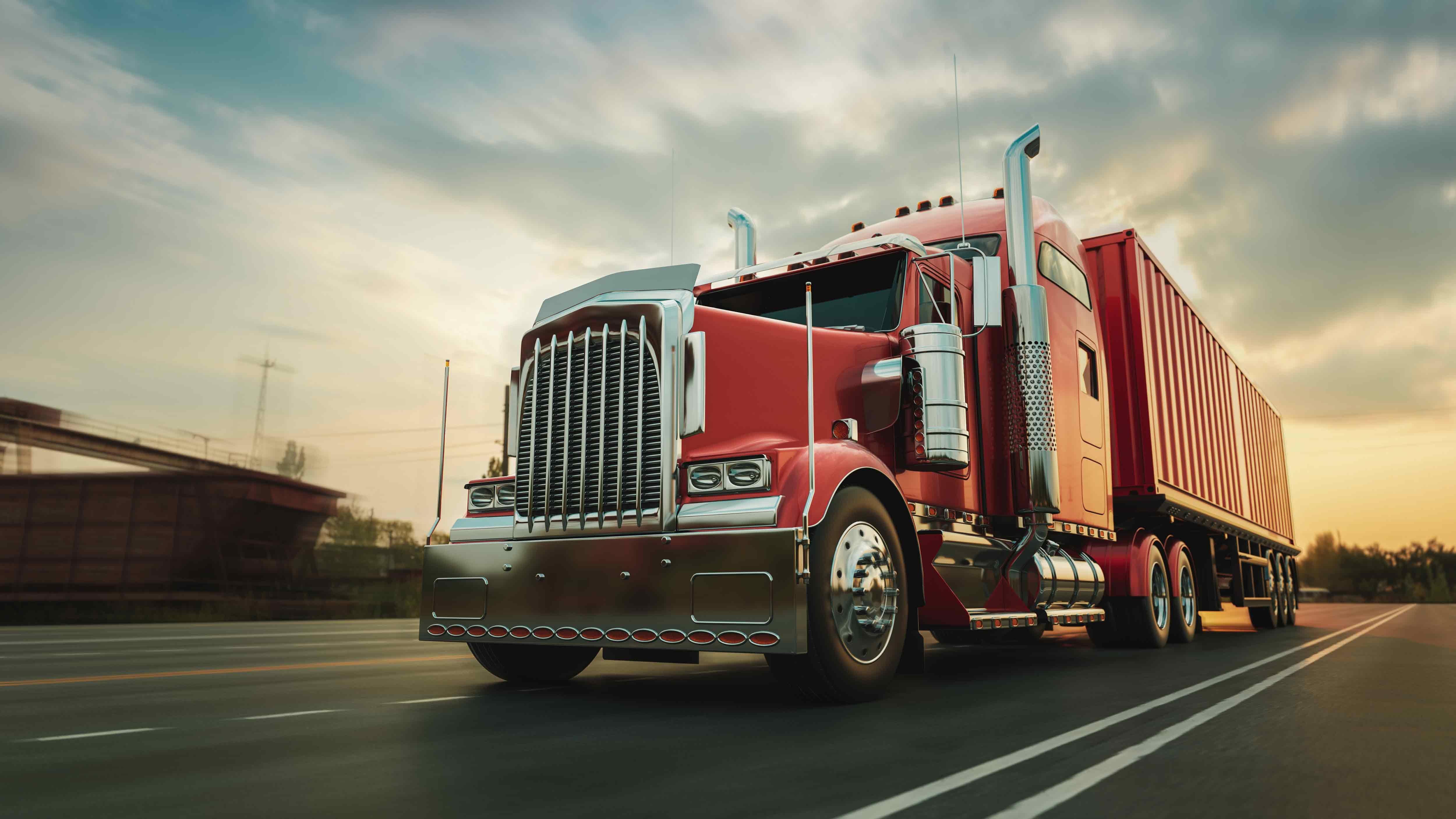 truck-runs-highway-with-speed